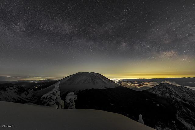 Milky way and Mt.Asama