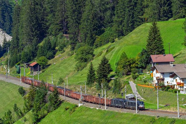 Photo:Dubbeltractie schroottrein te St Jodok - Austria By Frans Berkelaar