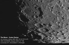 Moon - 2021-03-22 2313 UTC - Crater Clavius