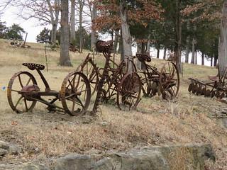 Old Farm Equipment Hwy 54.