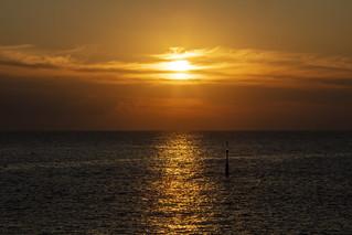 Sun setting over the Mediterranean