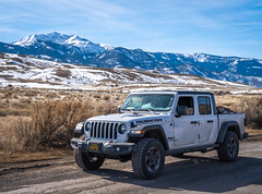 Jeep Rubicon Gladiator Truck Winter Fuji GFX100 Utah Fine Art Landscape Photography! Gardiner Gateway to Yellowstone! Master Medium Format Fine Art Photographer! Fujifilm GFX 100 & FUJINON Fujifilm GF 45-100mm F4 OIS Mid Range Zoom Lens!