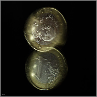 Twisting a Coin (on a mirror)