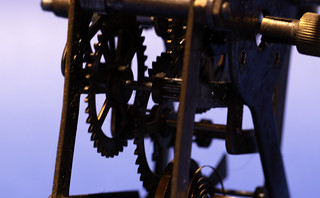 Engine of the old clock