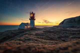 Sunset lindesnes lighthouse