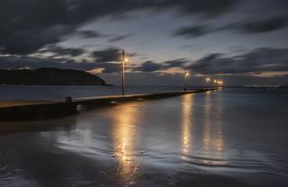 夕方の桟橋
