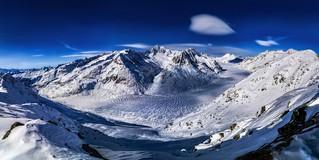 Aletsch Glacier in Winter