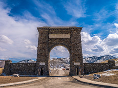 Pink Sunset Roosevelt Arch Yellowstone National Park Winter Fuji GFX100 Fine Art Landscape Photography! Gardiner Gateway to Yellowstone! Master Medium Format Fine Art Photographer! Fujifilm GFX 100 & FUJINON Fujifilm GF 45-100mm F4 OIS Mid Range Zoom Lens