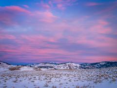 Pink Sunrise Red Orange Yellow Clouds Yellowstone National Park Winter Fuji GFX100 Fine Art Landscape Photography! Gardiner Gateway to Yellowstone! Master Medium Format Fine Art Photographer! Fujifilm GFX 100 & FUJINON Fujifilm GF 45-100mm F4 OIS Zoom!