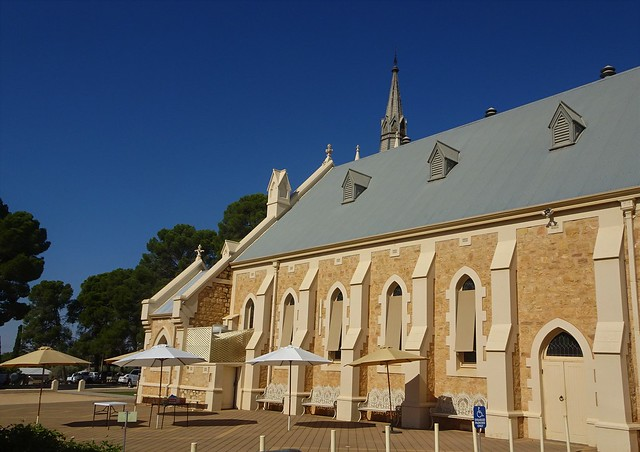 Photo:Loxton. In the Riverland. The northern facade of the 1925 built St Peters Lutheran Church .. By denisbin