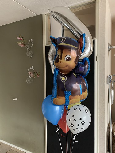 Ballonboeket Verjaardag 4 Jaar Paw Patrol
