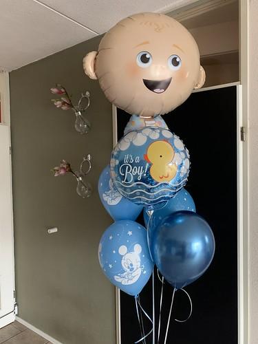 Ballonboeket Geboorte Baby Jongen
