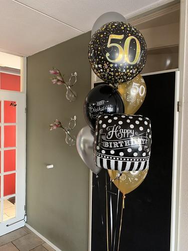 Ballonboeket Verjaardag 50 Jaar Abraham Sarah