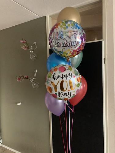 Ballonboeket Verjaardag Vrolijke Kleuren