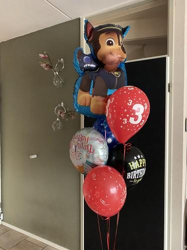 Ballonboeket Verjaardag 3 Jaar Paw Patrol