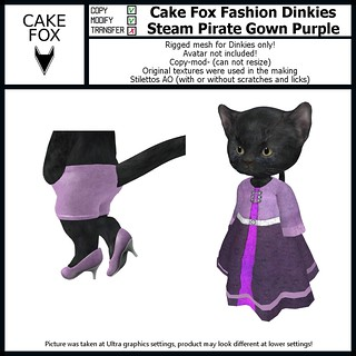 NEW: Cake Fox Fashion Dinkies Steam Pirate Gown