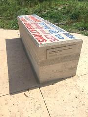 Gary Sweeney art bench at Confluence Park