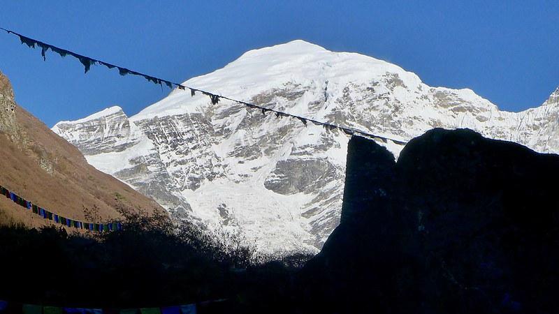 Blick zum Gipfel des Chomolhari