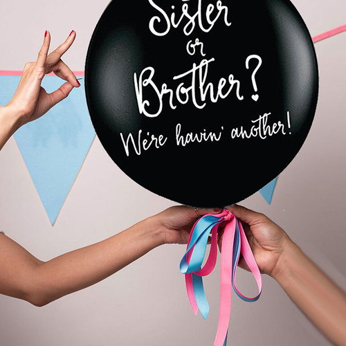Gender Reveal Party Ballon Siter or Brother