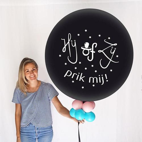 Gender Reveal Party Ballon Hij of Zij Prik mij