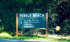 Sign to Pebble Beach, California