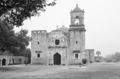 Mission San Jose Cathedral BW