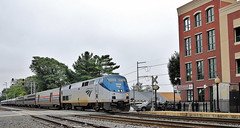 Amtrak 'Cardinal' arriving at Manassas VA (2016)