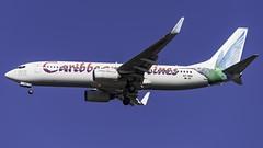 9Y-TAB_JFK_Landing_31R_BW_B737_8Q8_Calypso_Rose_Calypso_Queen_Of_The_World