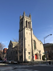 Church of the Holy City and blue sky, 16th Street NW, Dupont Circle, Washington, D.C.