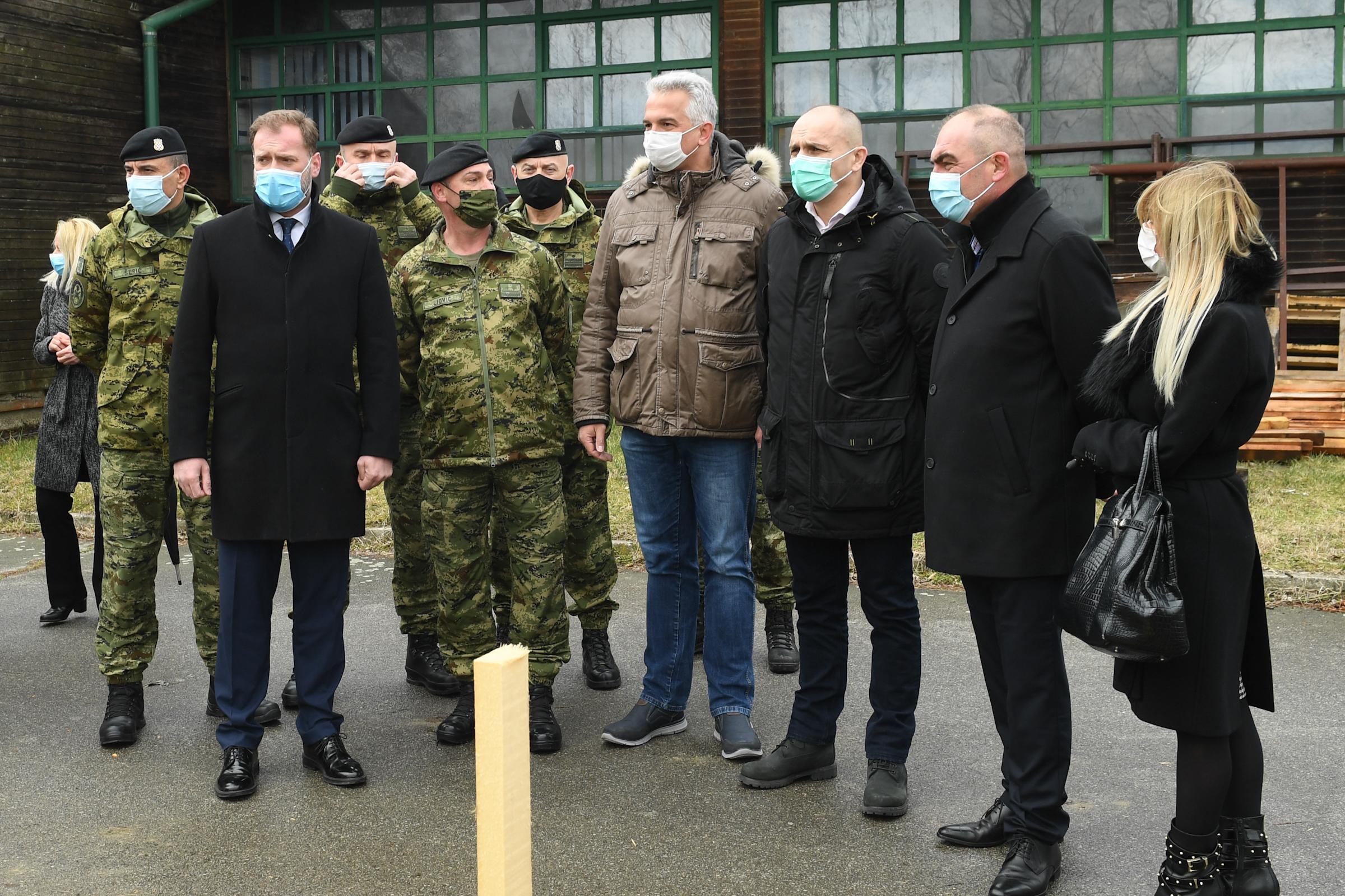 Ministar Banožić obišao inženjerijske radove za
