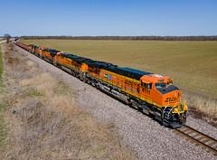 BNSF 6111 (ES44AC) 25th Anniv.) Train:GALMEM Clarkedale, Arkansas