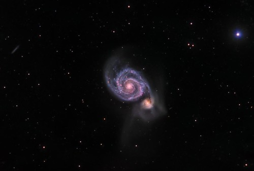 M51 The Whirlpool Galaxy - LRGBHa,