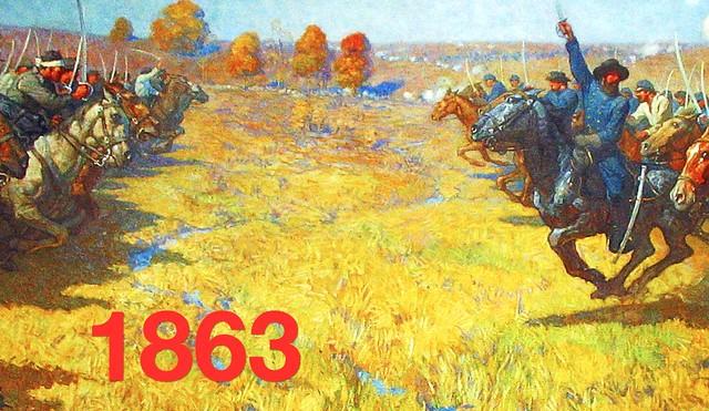 Photo:360. HLJ2 Mural of the Battle of Westport By Jim Surkamp