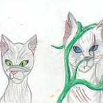 Dovewing and Ivypool by Silverpaw