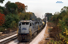 1992 10-18 1215 CSX C40-8-7544 W/B Q-405 Hyatsville, MD