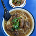 Fried pork shortribs with noodles and soup