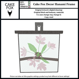 Cake Fox Decor Hanami Frame