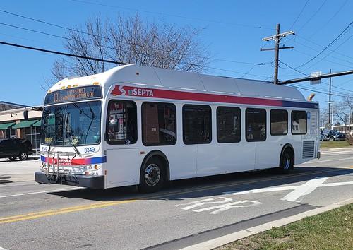 SEPTA - 8349 - 2010 New Flyer DE40LFR on Route 101 rail shuttle bus in Media PA