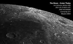 Moon - 2021-03-23 0015 UTC - Crater Thales