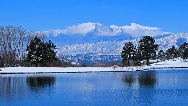 Photo:The White and Blue Left by the Spring Blizzard, Colorado Springs, Colorado By Tranquiligold