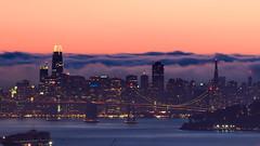 San Francisco Orange Purple Dusk