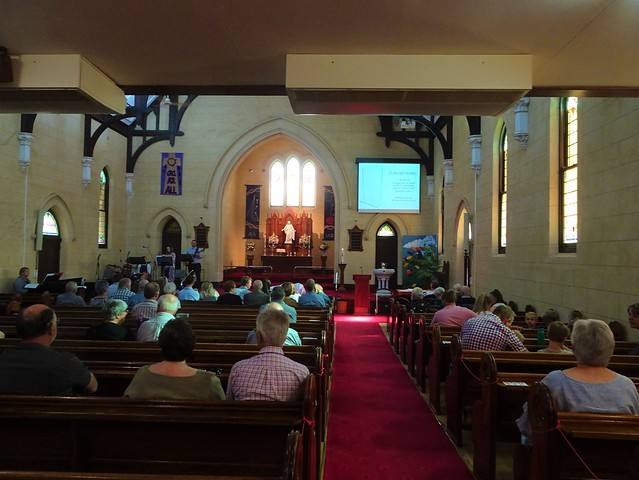 Photo:Loxton. In the Riverland. The second Sunday service about to begin in the 1925 built St Peters Lutheran Church. . By denisbin