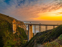 Bixby Bridge Sunset Dusk Highway 1 PCH Big Sur Scenic Coast Fuji GFX 100 Fine Art California Landscape Nature Photography! Master Medium Format California Coastline Monterey County Elliot McGucken Fine Art Fujifilm GFX100 Photography !