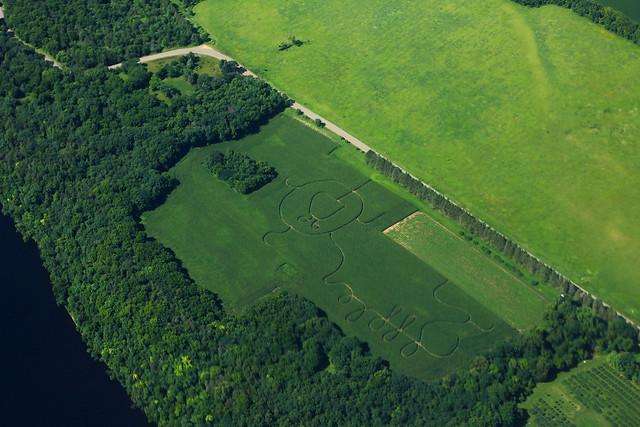 Photo:Fischer Croix Farm Orchard Aerial Minnesota By formulanone