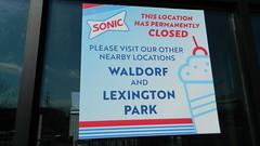 Sonic Drive-In closure notice