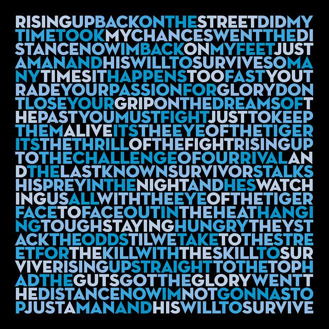 Photo:Eye of the Tiger - Survivor (lyrics) By Brett Jordan