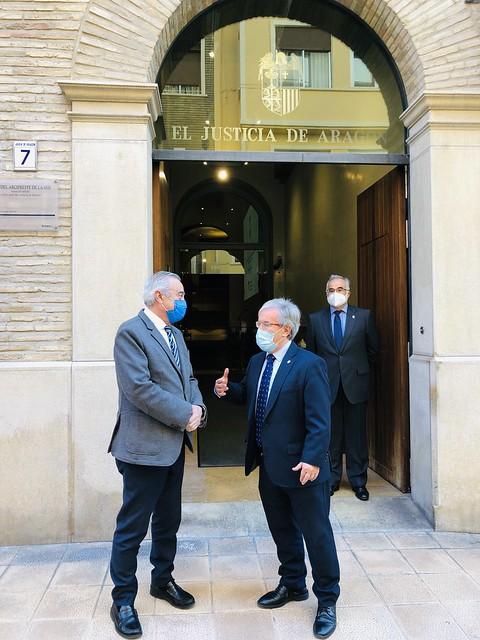 Visita del Presidente de las Cortes de Aragón, Javier Sada