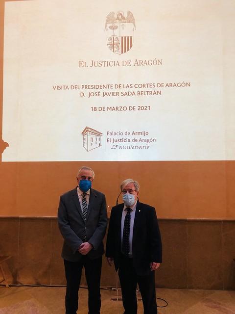 Visita del Presidente de las Cortes de Aragón, Javier Sad