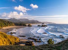 Canon Beach Ecola State Park Sunset Oregon Fuji GFX100 Fine Art Landscape Seascape Photography! Elliot McGucken Landscape Nature Photography! Master Medium Format Fine Art Photographer! Fujifilm GFX 100 & Fujifilm FUJINON Lens!