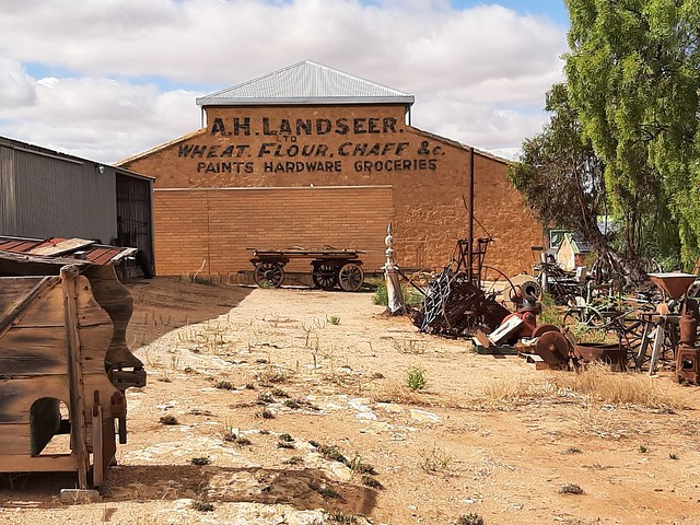 Photo:Morgan on the River Murray. The Landseers warehouse supplied good for the paddle steamers that went up the Darling River to outback NSW from 1878 to 1931.. By denisbin